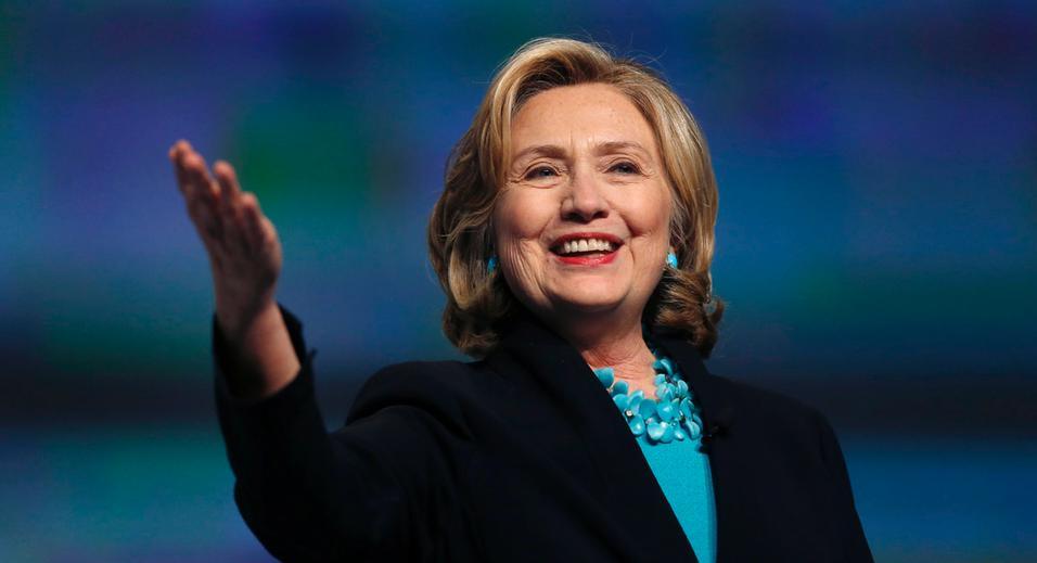 Former Secretary of State Hillary Rodham Clinton speaks at the Massachusetts Conference for Women in Boston, Thursday, Dec. 4, 2014. (AP Photo/Elise Amendola)