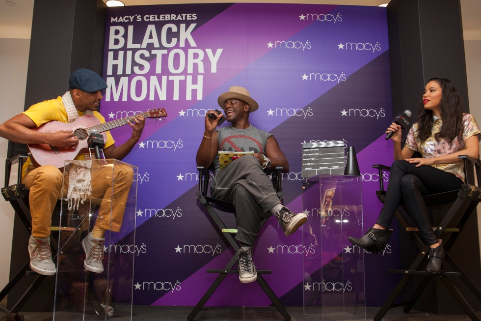 MacyÕs welcomed actors Jurnee Smollett-Bell and Taye Diggs, plus illustrator Shane Evans, to MacyÕs at Aventura Mall in Miami, FL on Saturday, February 13, for a discussion on culture, career and influences in honor of Black History Month. (Jesus Aranguren / AP Images for Macy's)